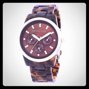 Michael Kors watch brown with gold accents